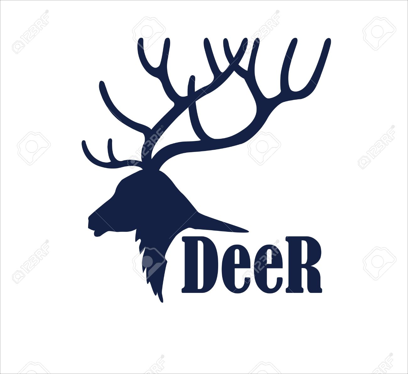 deer logo design template silhouette of deer head in profile rh 123rf com deer head emblem deer head logo clothing