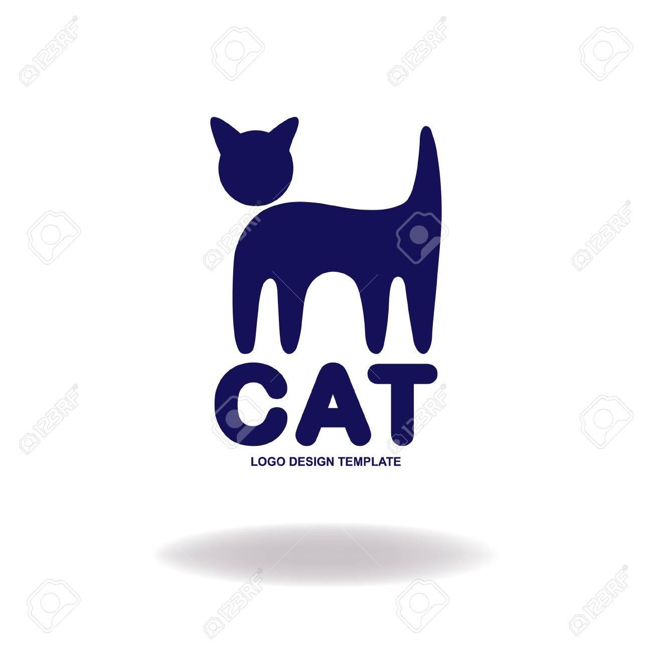 Vettoriale Disegno Del Gatto Gatto Stilizzato Come Modello Di