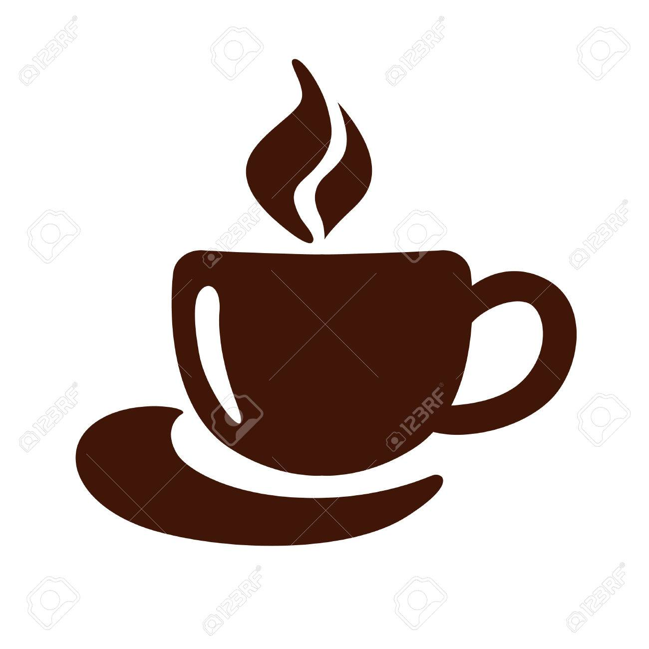 Stylized Image Of A Cup Of Coffee With Steam And Saucer Sign Royalty Free Cliparts Vectors And Stock Illustration Image 67484636