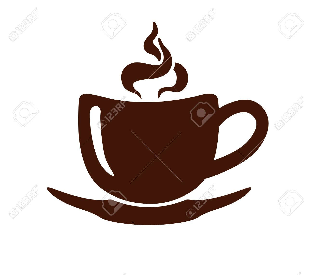Stylized Image Of A Cup Of Coffee With Steam And Saucer Sign Royalty Free Cliparts Vectors And Stock Illustration Image 67484639