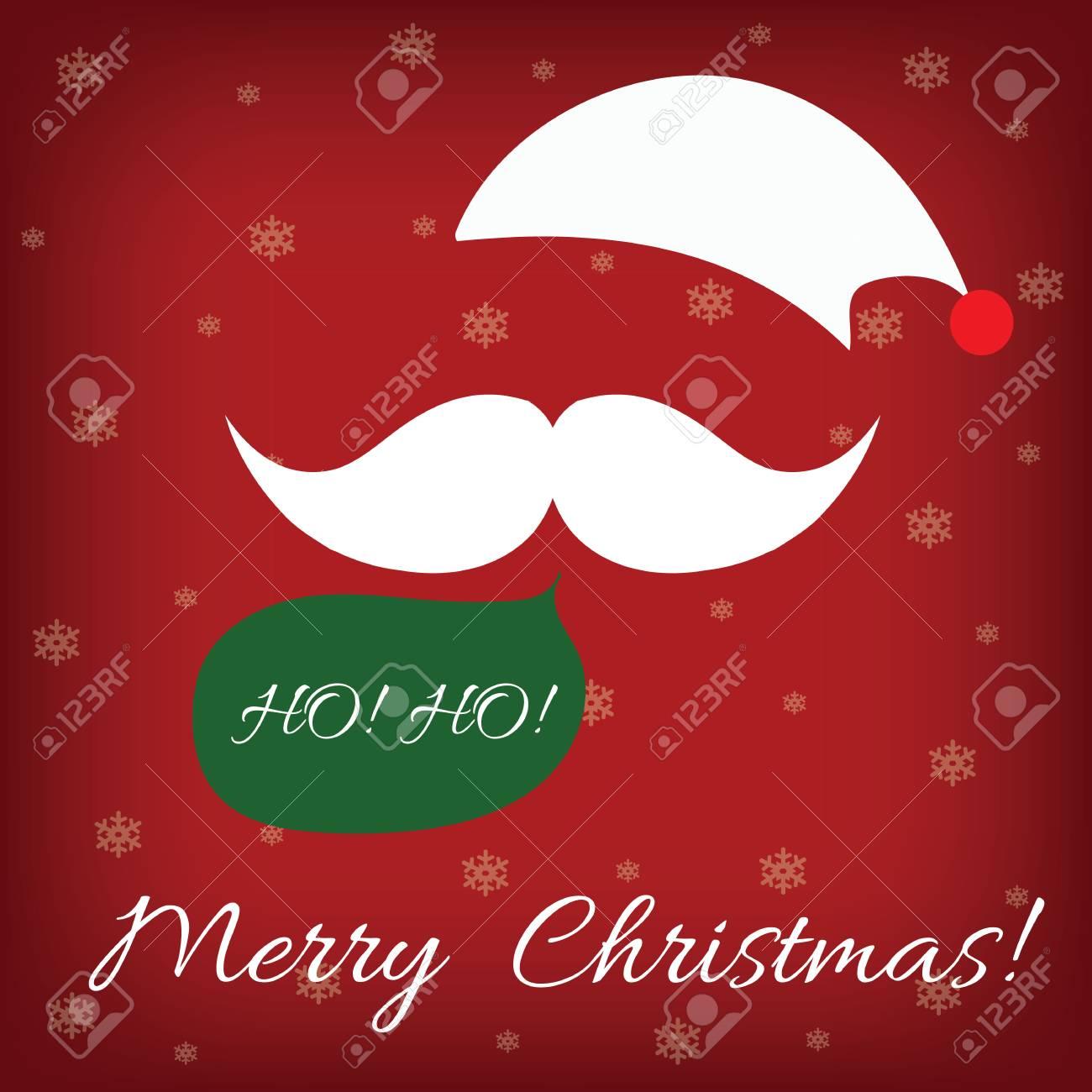 Ho Ho Ho Frohe Weihnachten.Stock Photo