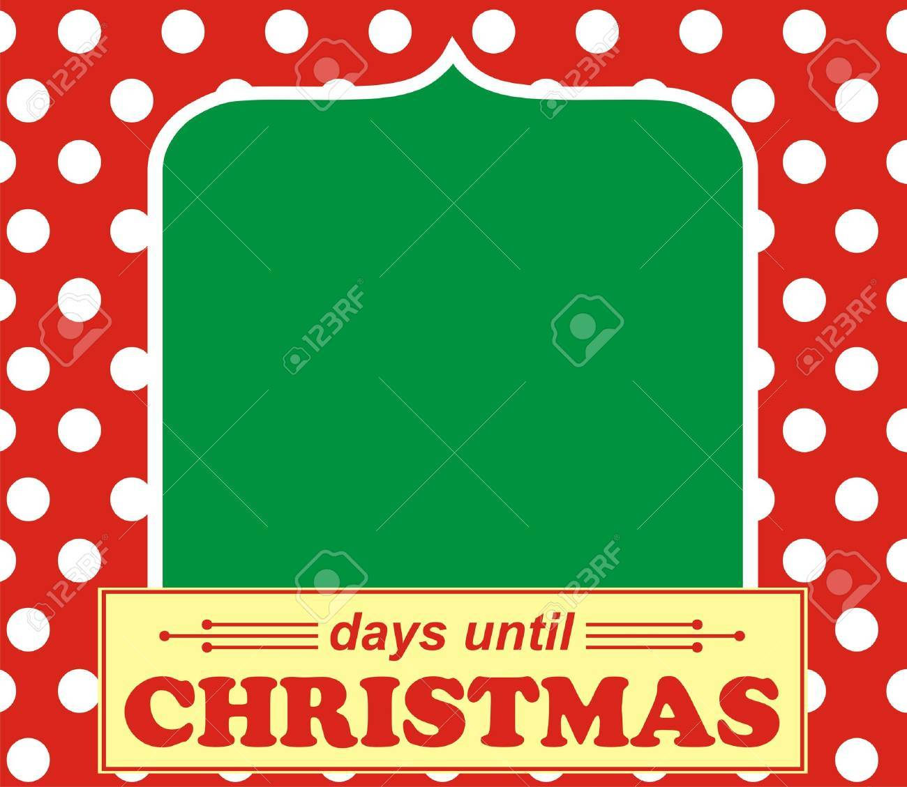 Days Until Christmas. Count Days Before Christmas. Royalty Free ...