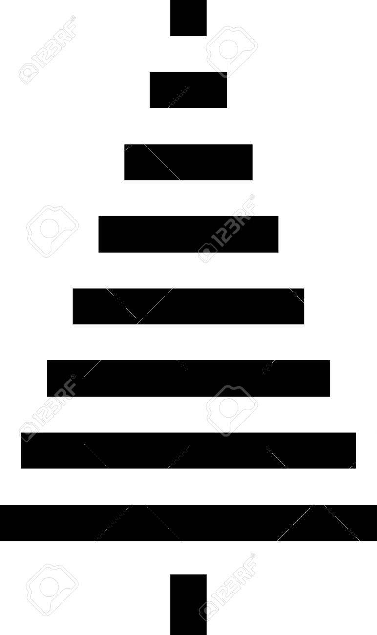 Icône De Sapin De Noël Icône De Sapin De Noël Icône De Sapin De Noël Silhouette Noir Et Blanc