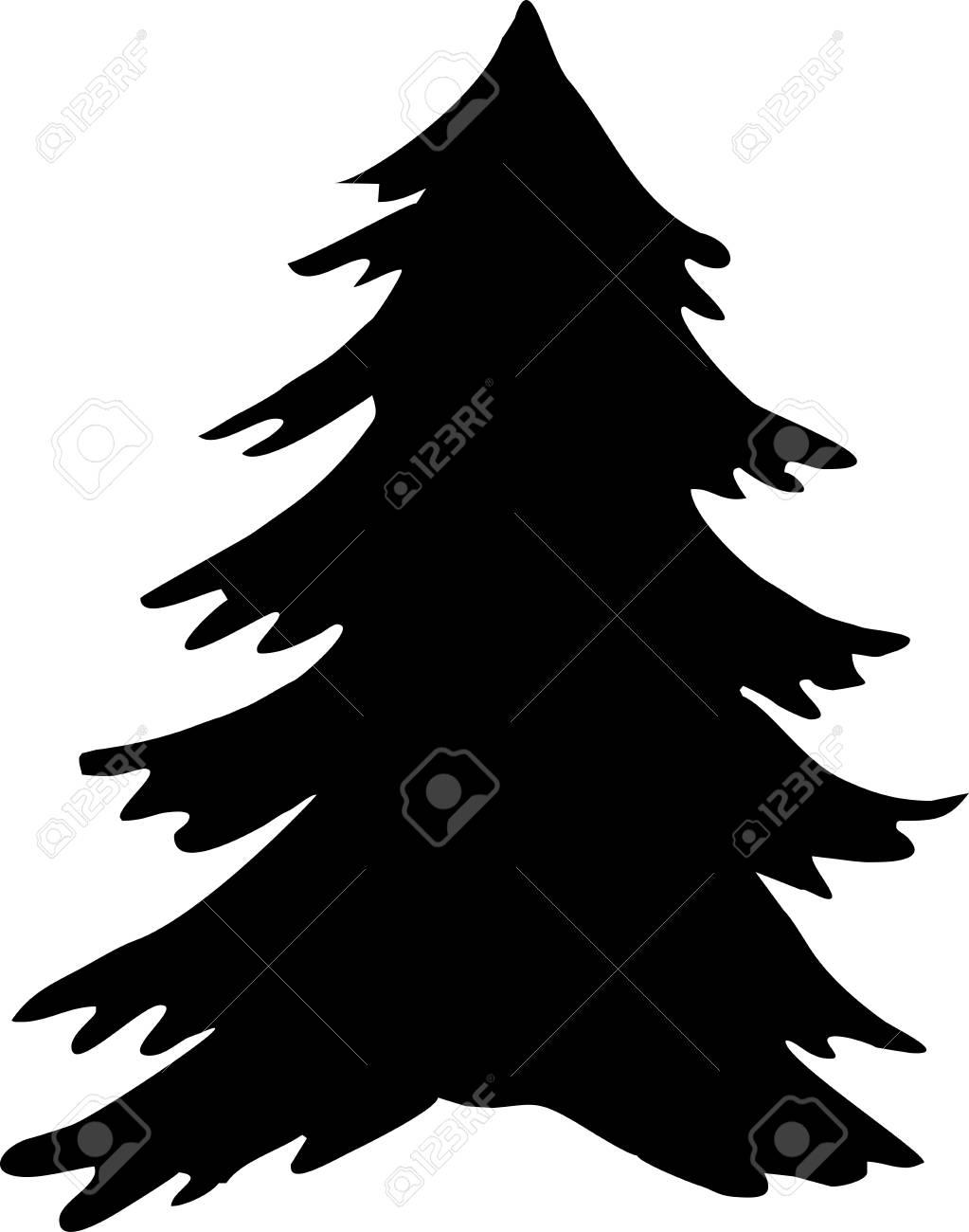 Weihnachtsbaum Schwarz.Stock Photo