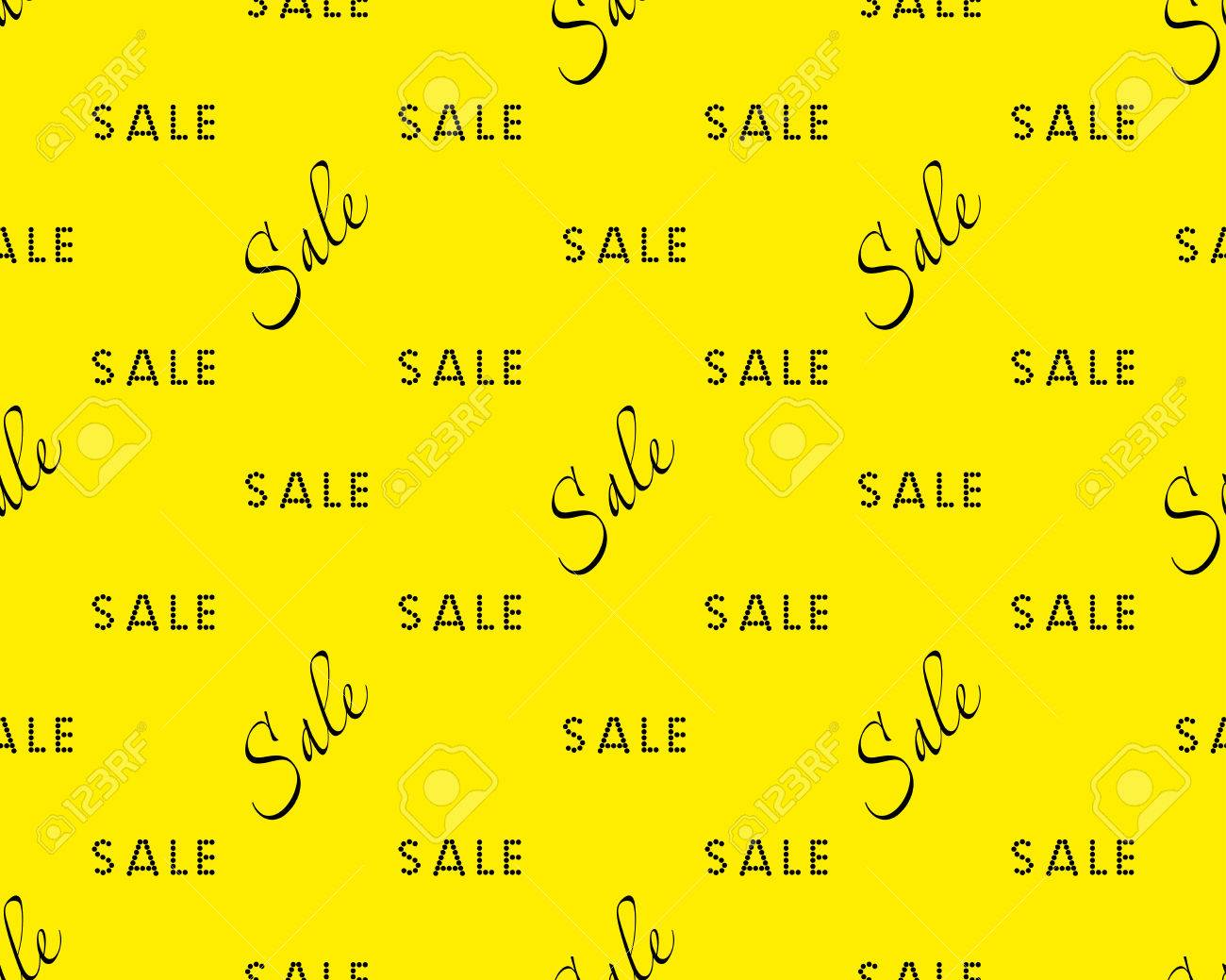 Sale Simple Background Black On Yellow Color Sale Background
