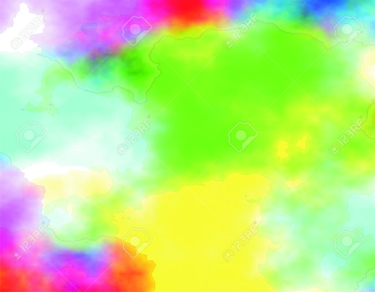 Immagini Stock Sfondo Colorato Astratto Acquerello Digitale O