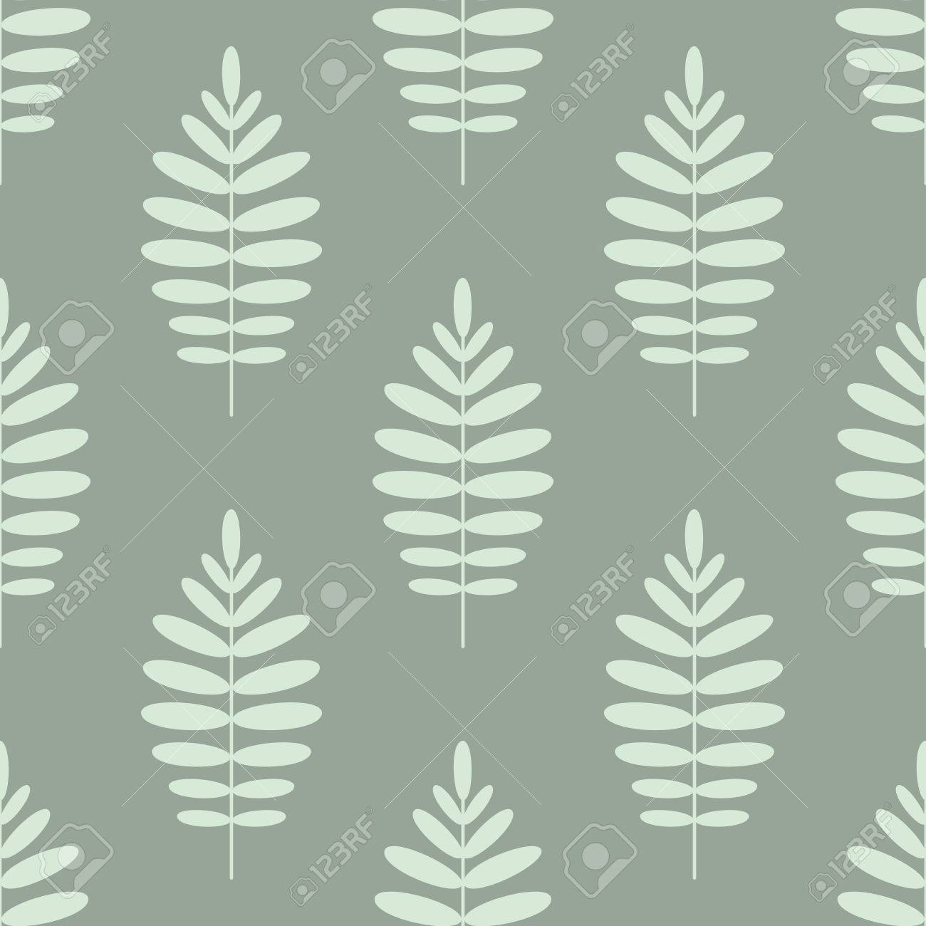 Tropical seamless pattern with branches of palm trees  Exotic