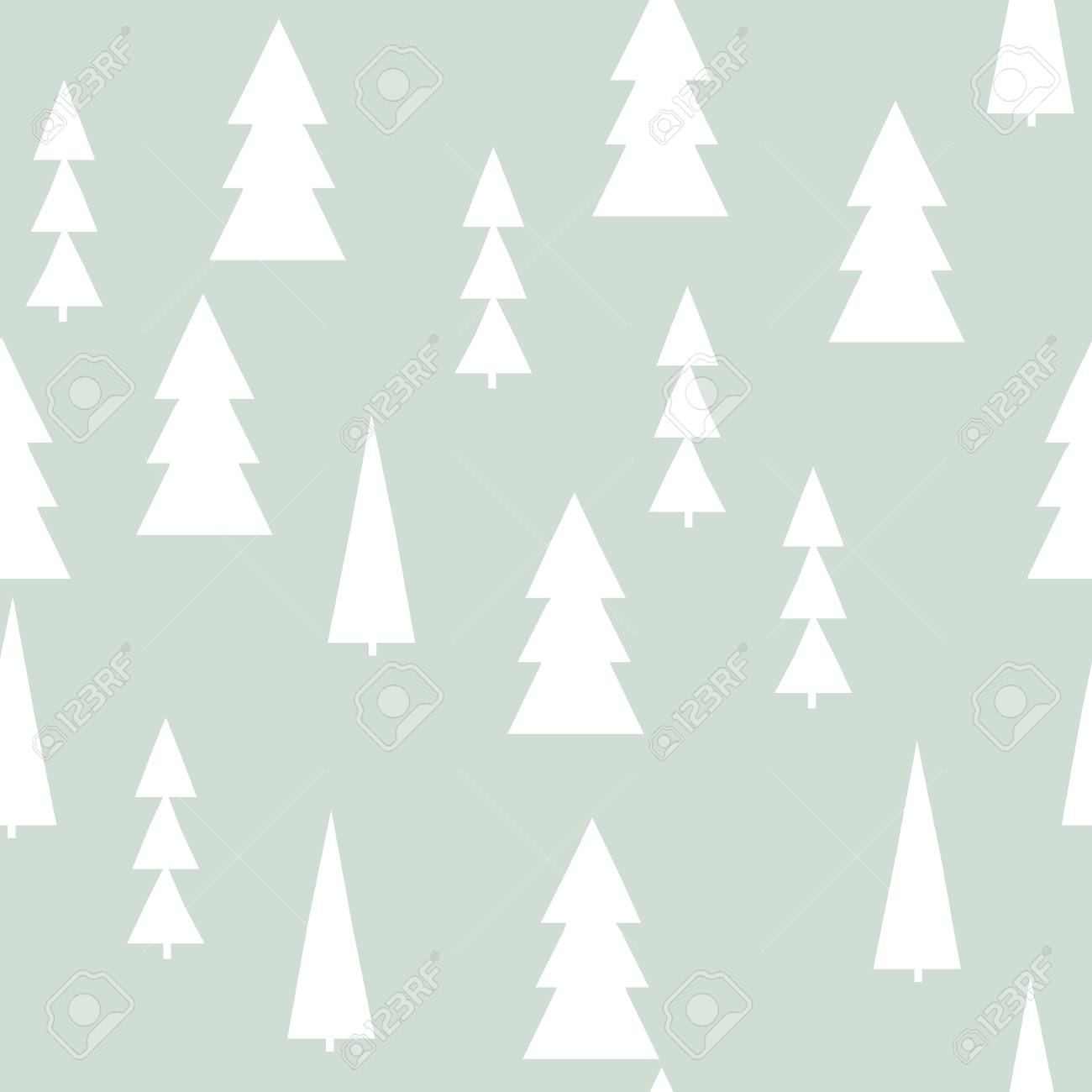 Christmas Trees Background Clipart.Christmas Pattern With Trees Simple Winter Christmas Background