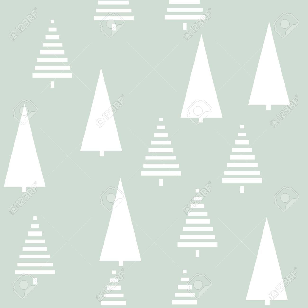 christmas pattern with trees simple winter christmas background graphic with christmas trees