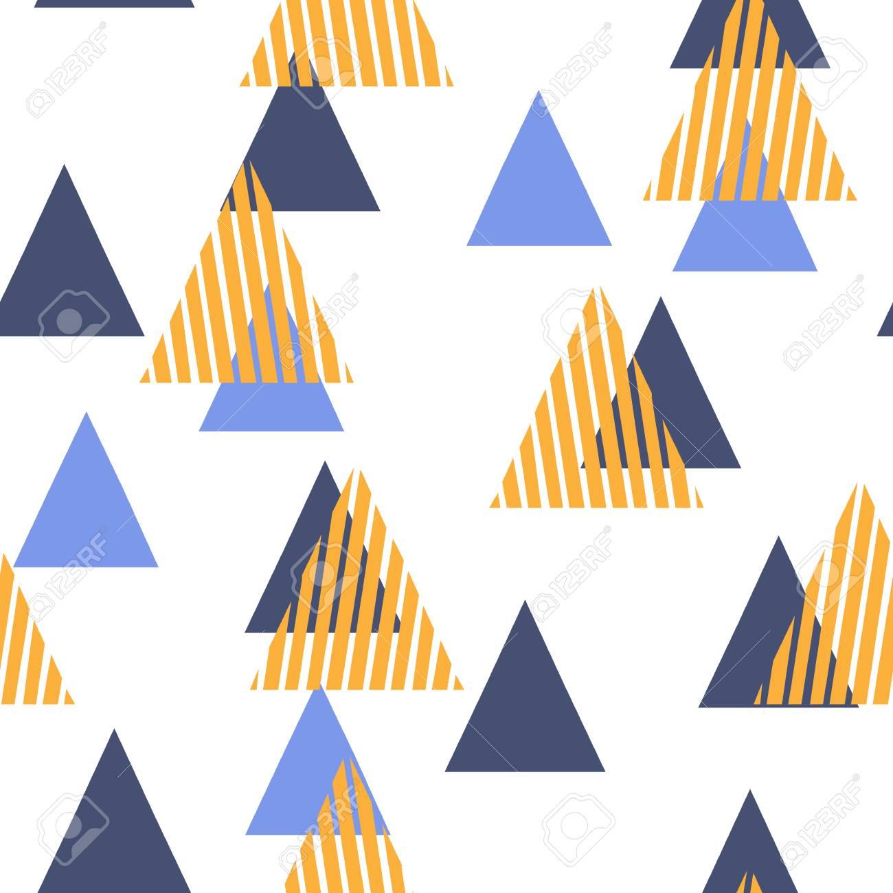 Motif Géométrique Abstrait Avec Les Triangles Style Plat Scandinave Pour L Impression Sur Les Vêtements Pour Hommes Et Femmes Papier Tissu