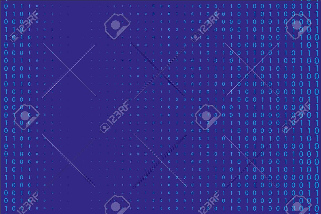 Random Numbers 0 And 1 Background In A Matrix Style Binary Code