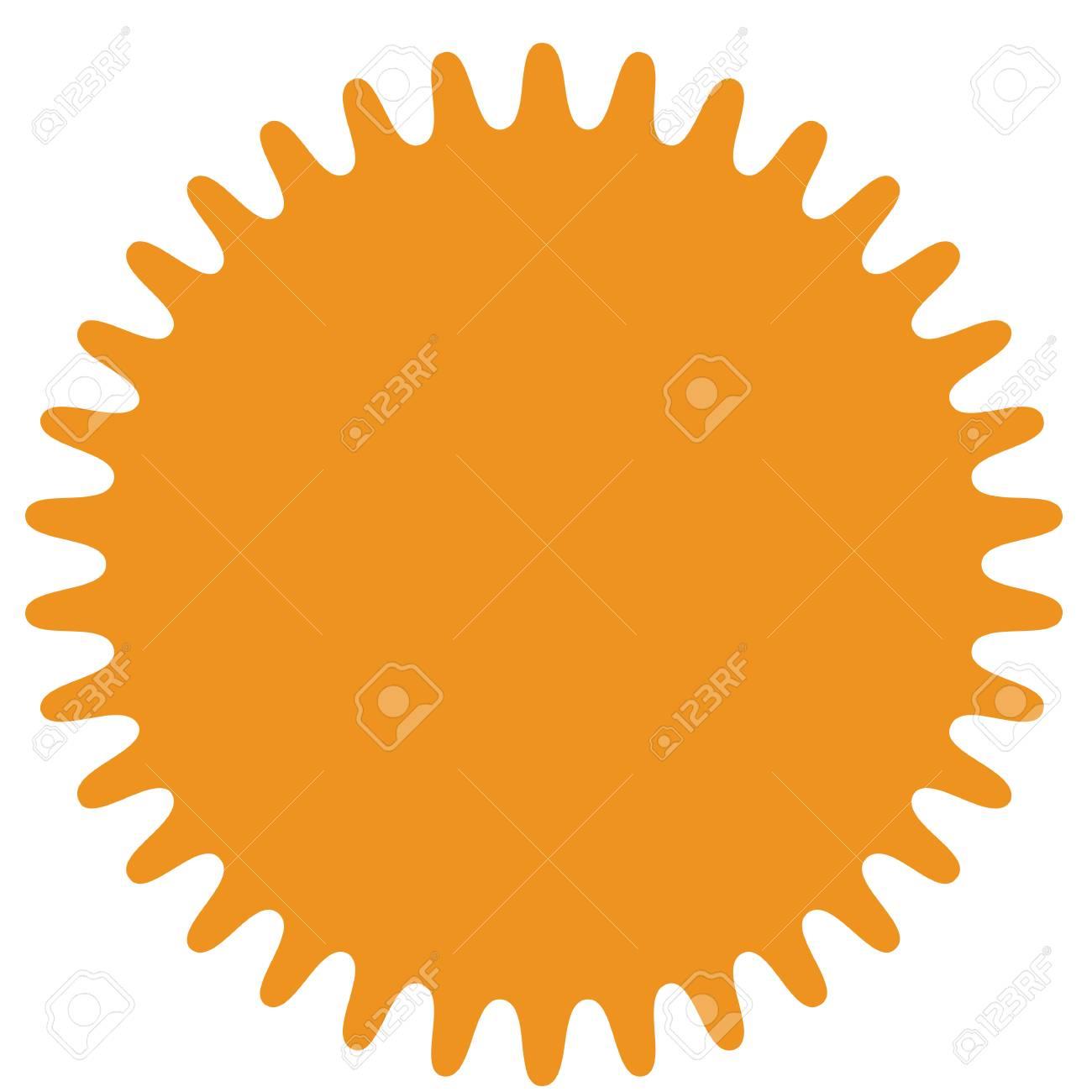 vector starburst sunburst badge orange color simple flat style rh 123rf com vector starburst badge vector starburst shape