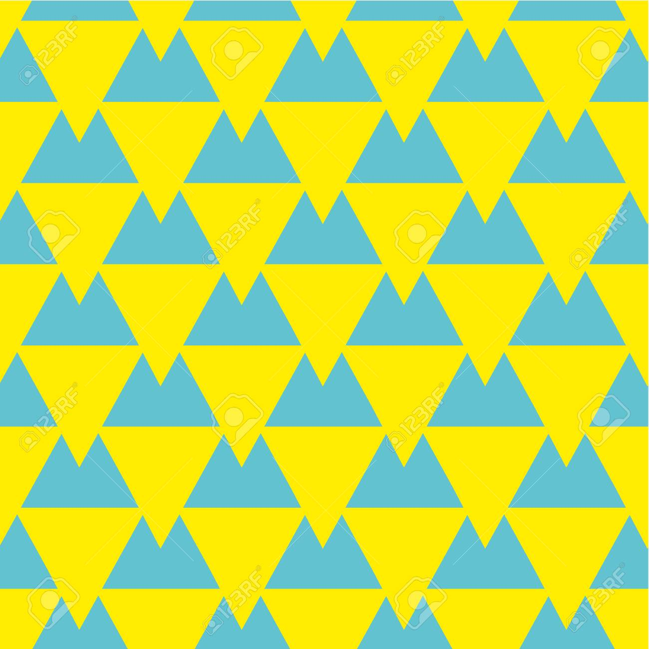 Vector Seamless Pattern With Triangles. Modern Stylish Texture ...