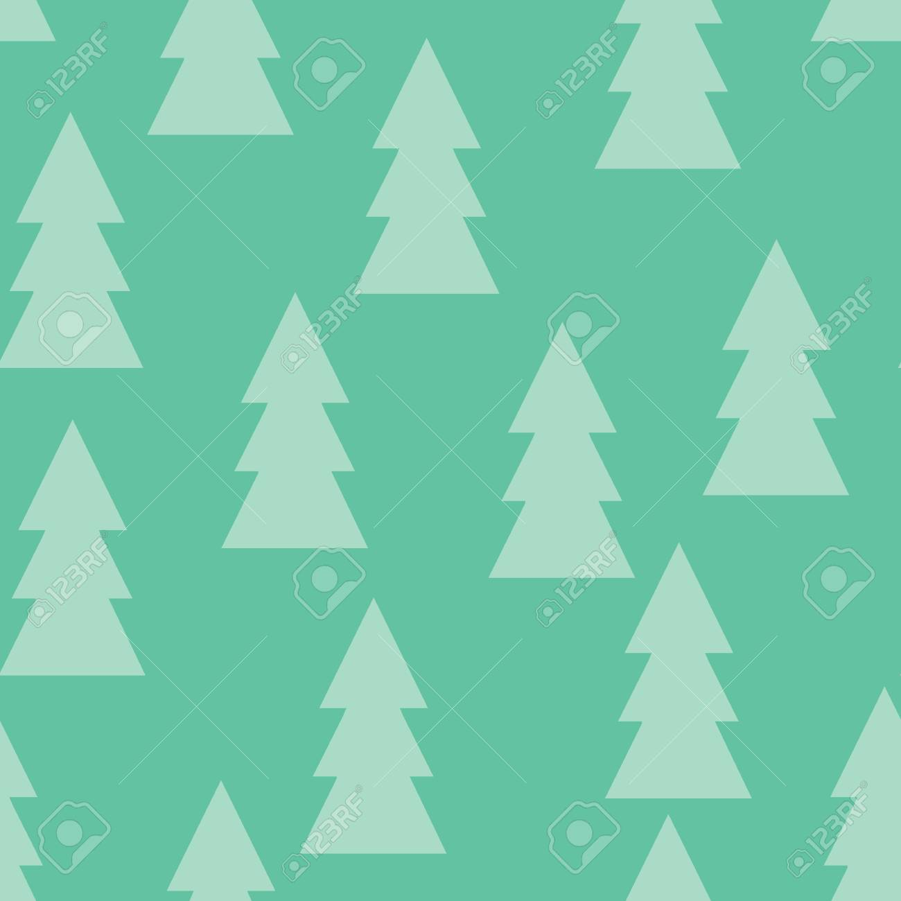 christmas pattern with trees. abstract winter forest. simple