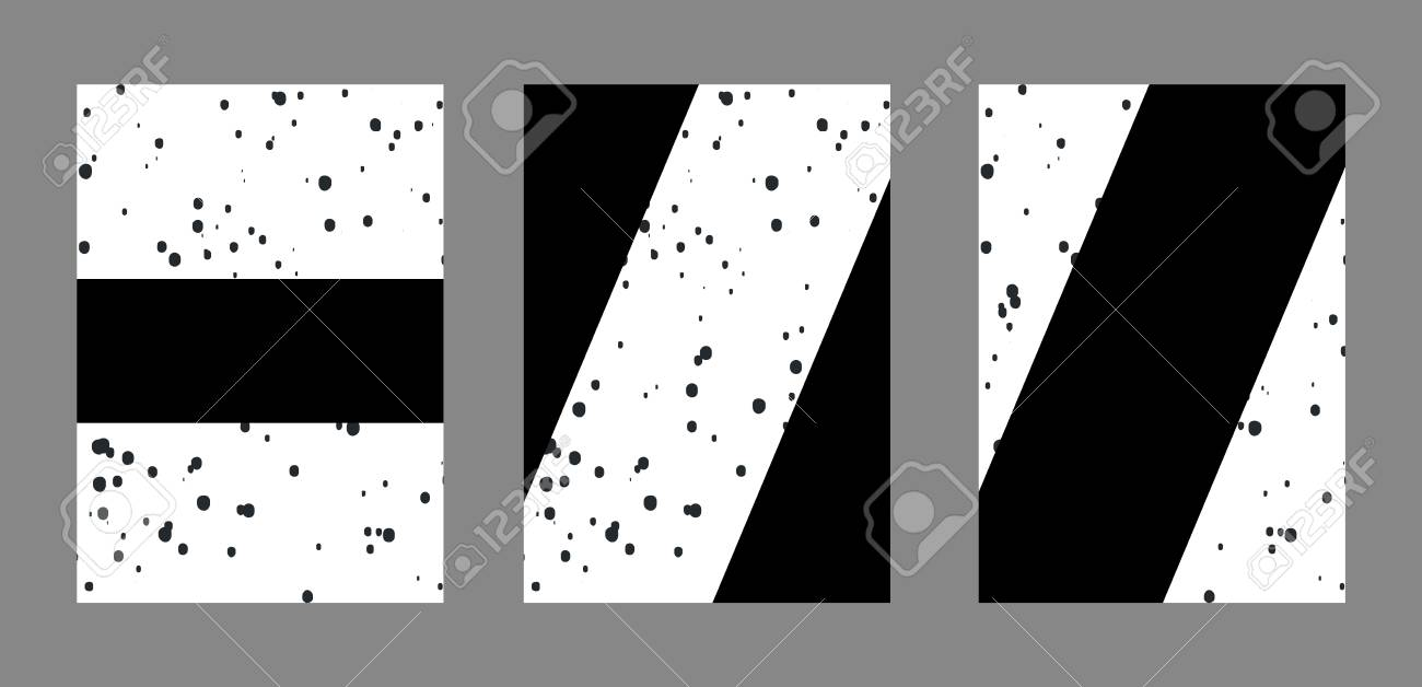 Diseño De Cubierta. Conjunto De Plantillas Tipográficas Para ...