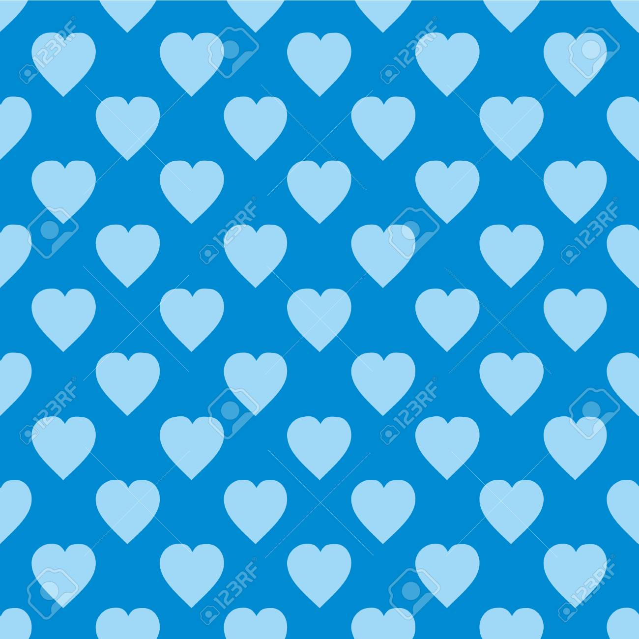 Pattern With Hearts Flat Scandinavian Style For Print On Fabric