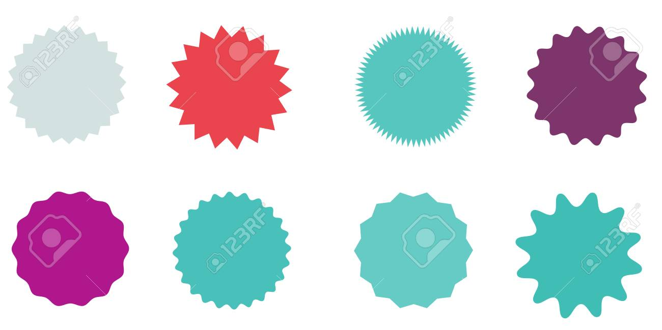 set of vector starburst sunburst badges vintage labels colored rh 123rf com starburst vector art starburst vector background