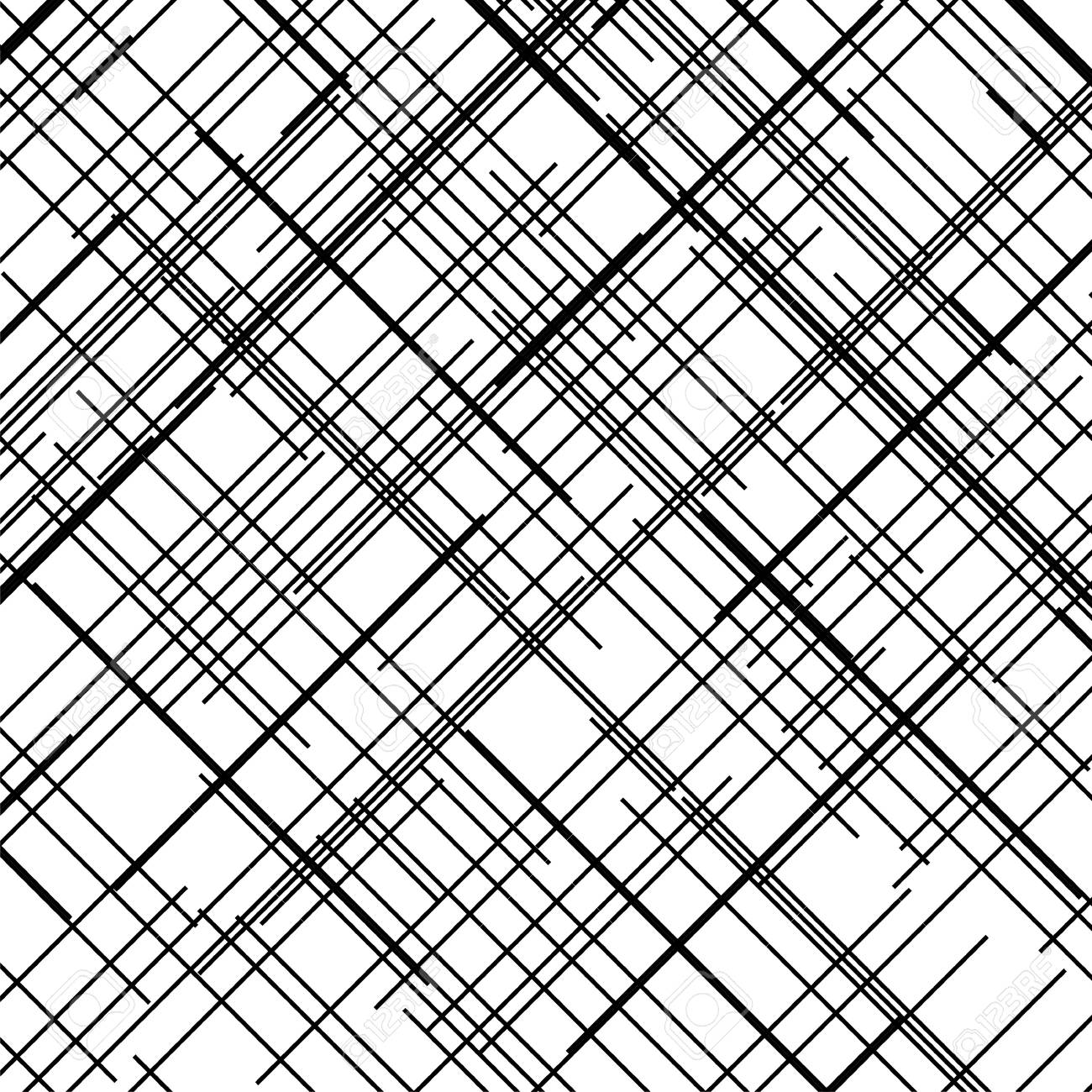 Criss cross pattern. Texture with intersecting straight lines. Design element to create abstract grunge, textured backgrounds, layouts. Digital hatching. Vector illustration - 100673212