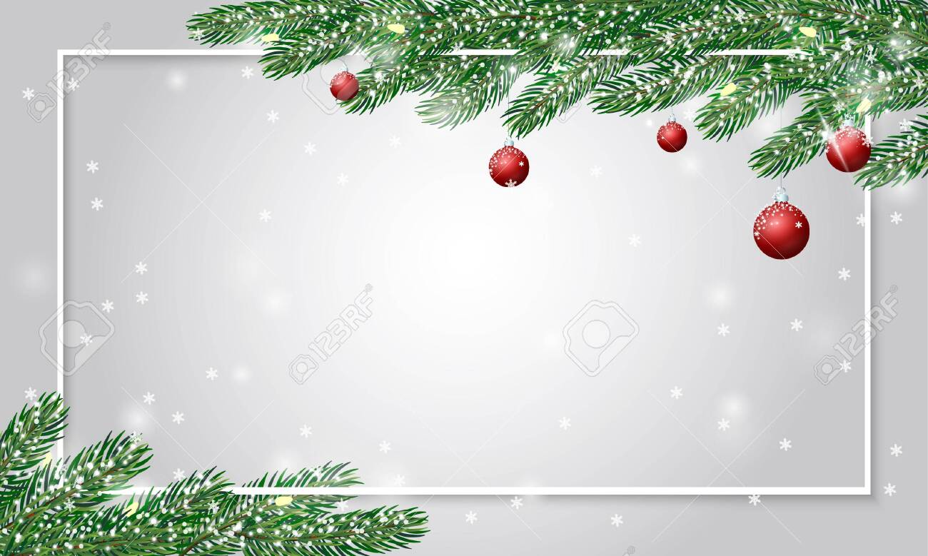 festive cute christmas background with fir branches covered with royalty free cliparts vectors and stock illustration image 117982085 festive cute christmas background with fir branches covered with