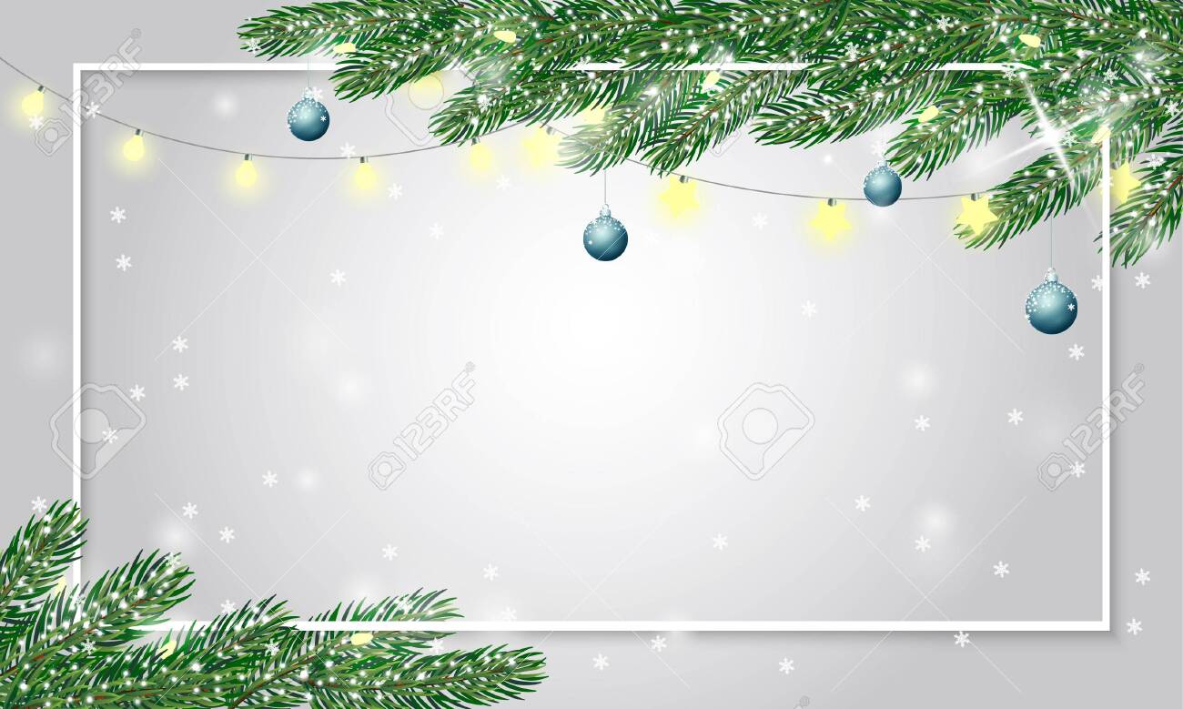 festive cute christmas background with fir branches covered with royalty free cliparts vectors and stock illustration image 117982088 123rf com