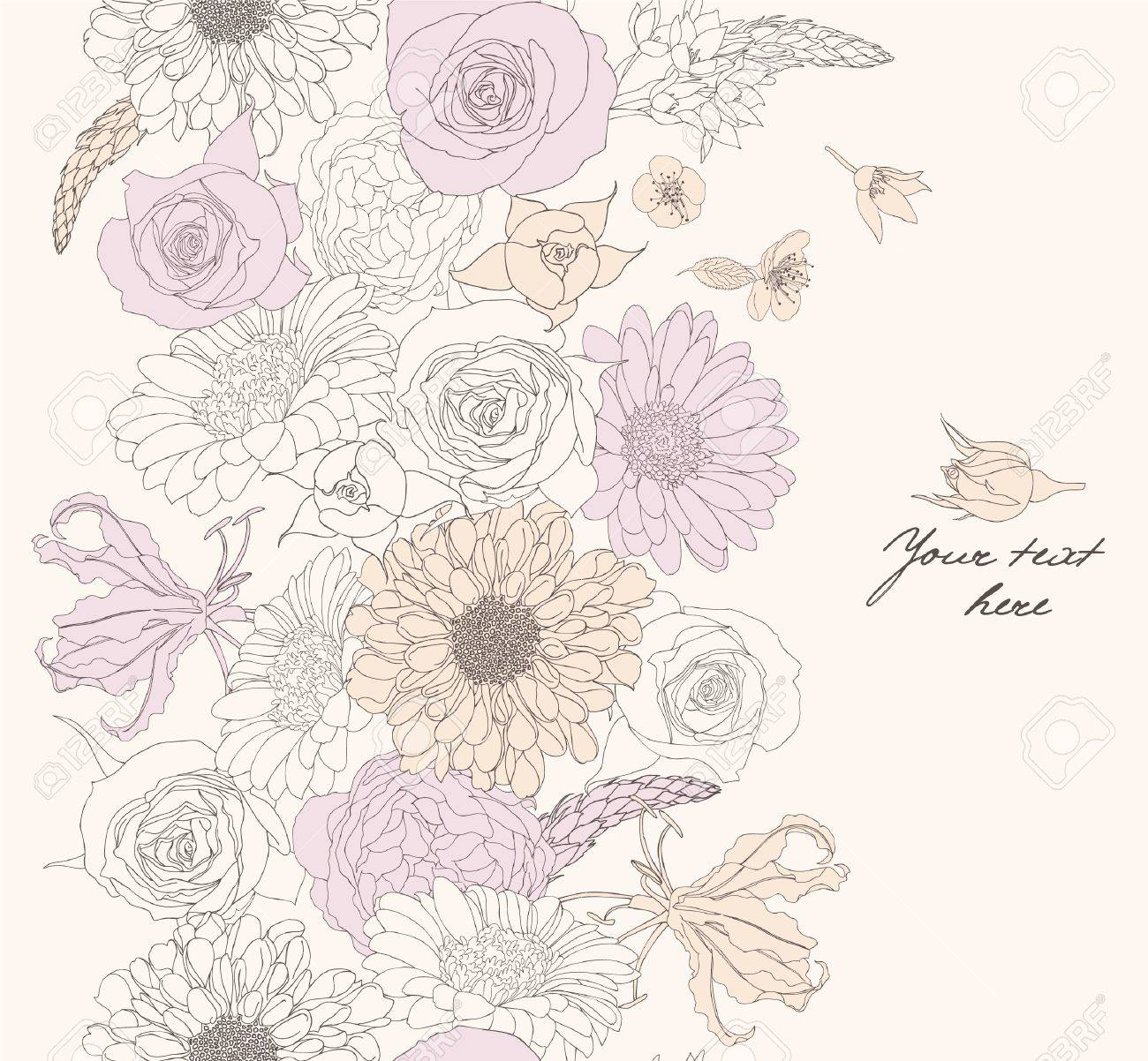 Floral seamless pattern Stock Vector - 16751063