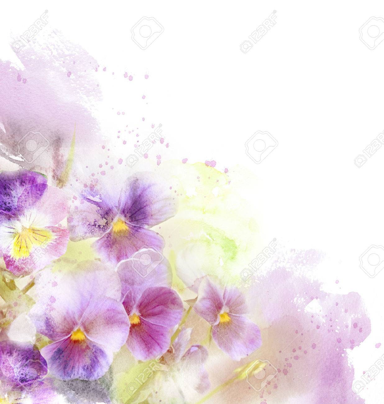 Watercolor card with beautiful flower - 60321938