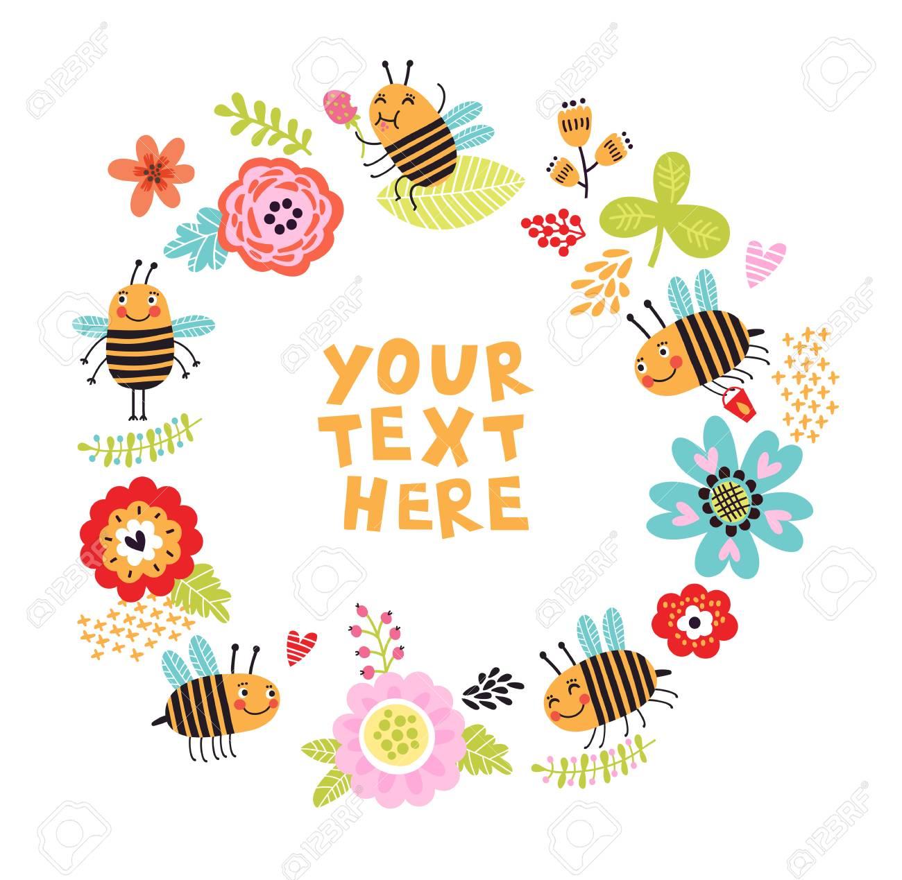 bee background - 77782219
