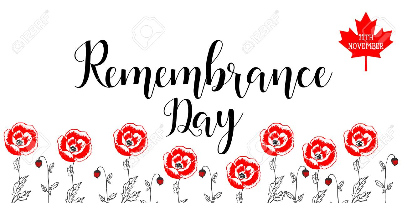 Poster Or Banner Of Remembrance Day With Poppy Flowers. Royalty Free  Cliparts, Vectors, And Stock Illustration. Image 88128819.