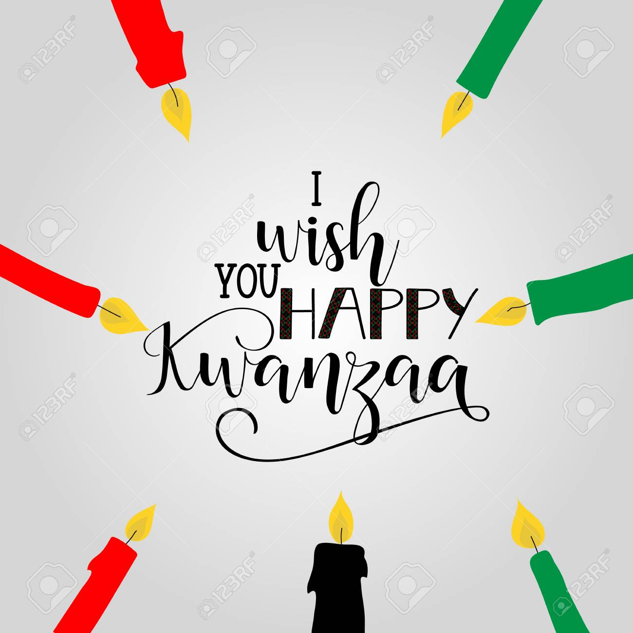 Happy kwanzaa decorative greeting card the celebration honors happy kwanzaa decorative greeting card the celebration honors african heritage in african american culture kristyandbryce Images