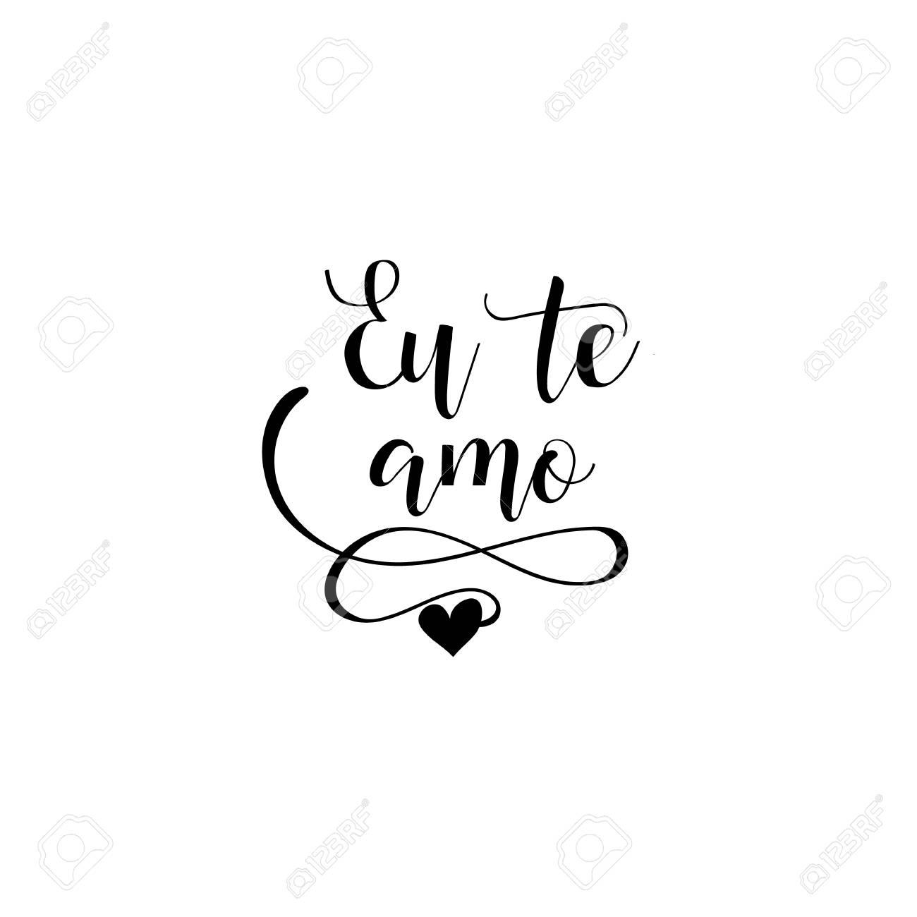 Eu Te Amo Letras Tradução Em Português Eu Te Amo Frase Para O Dia Dos Namorados Isolado No Fundo Branco