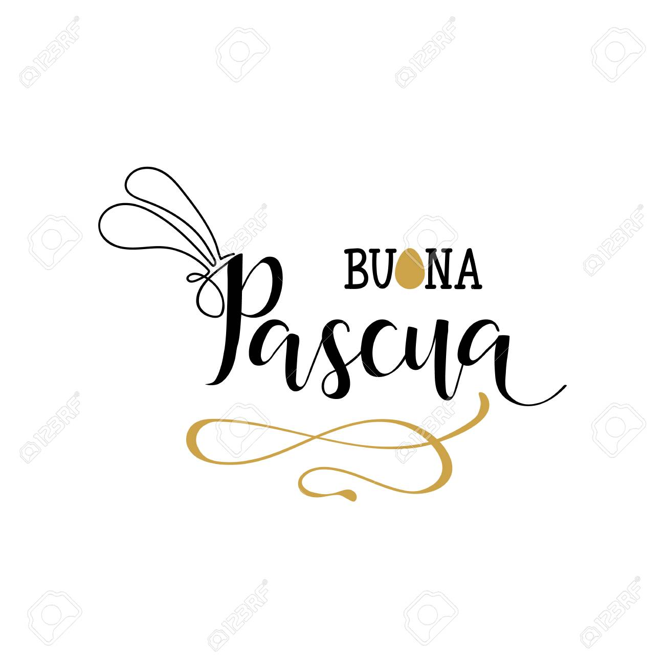 Buona pasqua lettering translation from italian happy easter translation from italian happy easter vector illustration calligraphy on white kristyandbryce Images