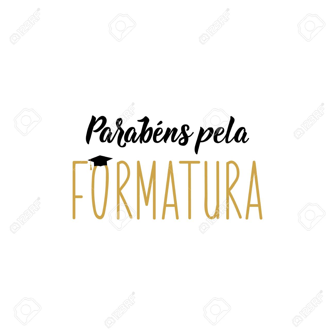 Brazilian Lettering Translation From Portuguese Congratulations Royalty Free Cliparts Vectors And Stock Illustration Image 145212032
