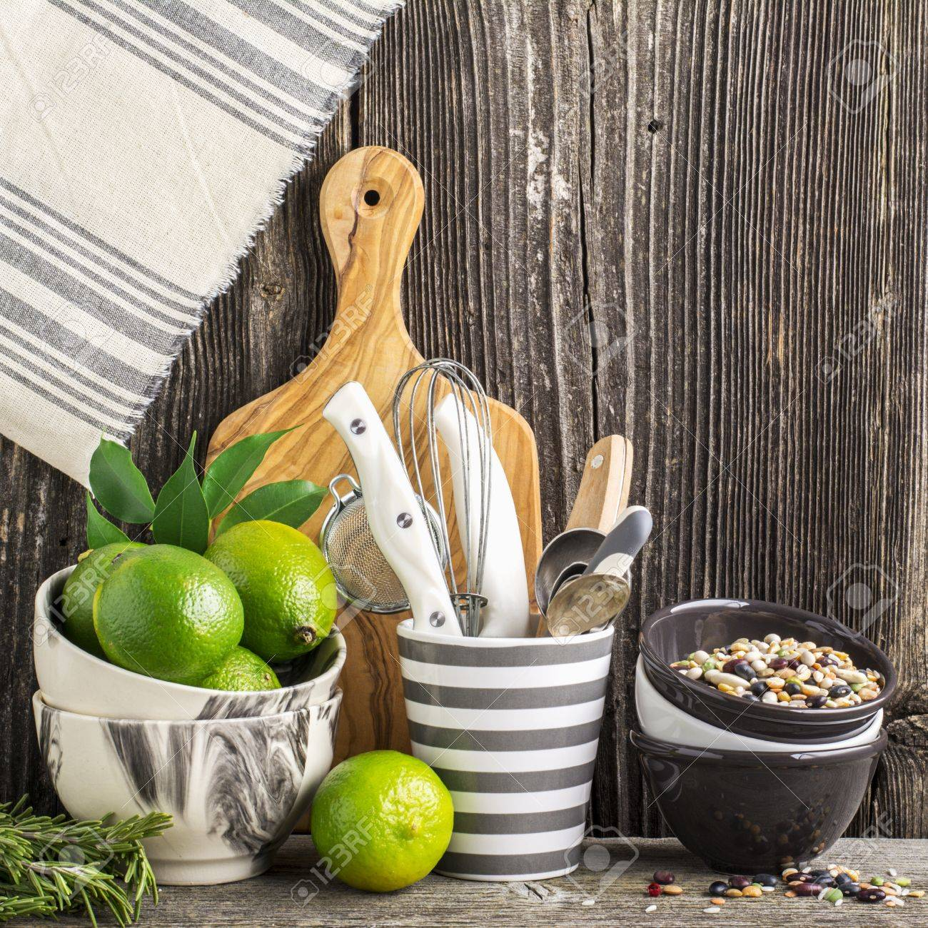 Simple Kitchen Still Life On A Background Of Wooden Wall Shelf Stock Photo Picture And Royalty Free Image Image 70344550