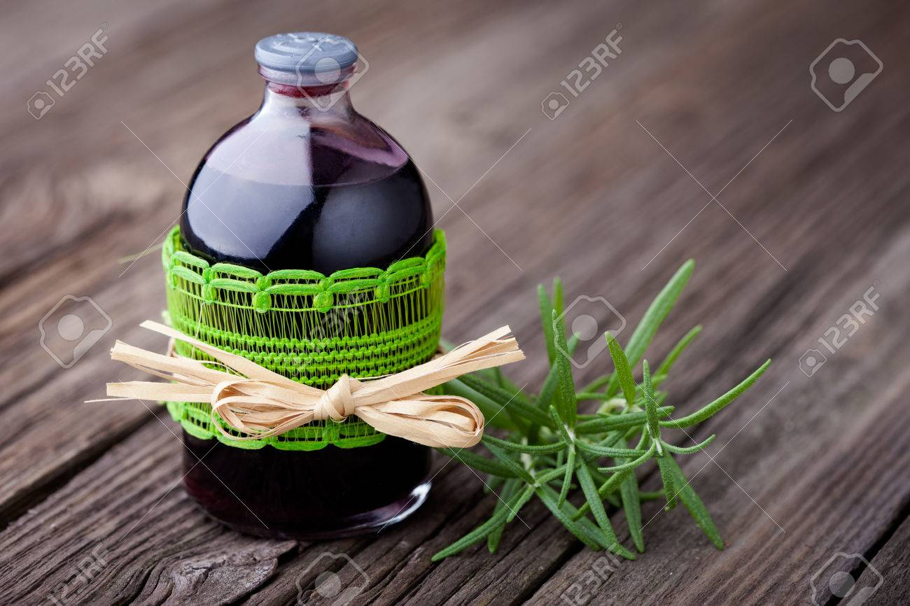 Handmade Diy Natural Hair Toner With Rosemary And Red Wine