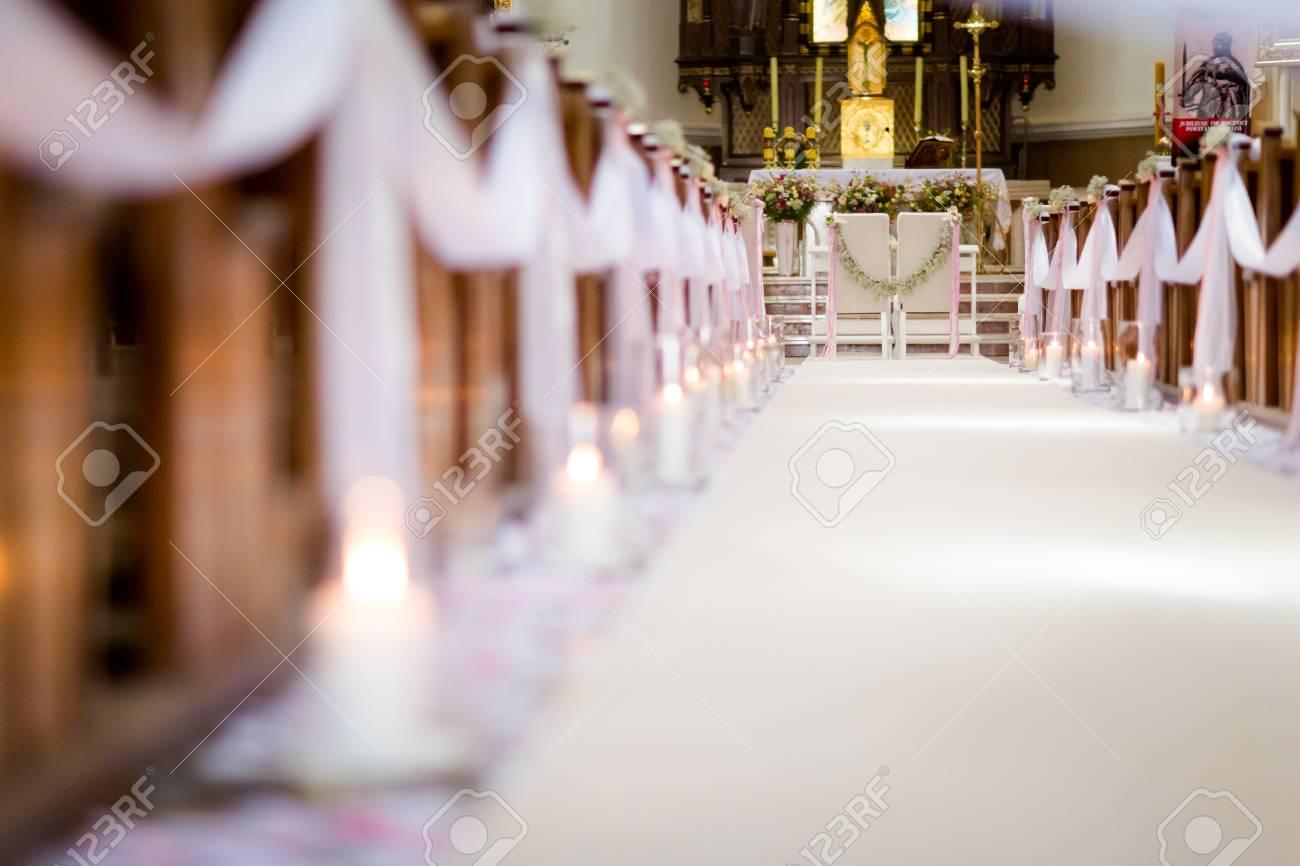 Christian Detaill Kirche Dekoration Fur Hochzeit Trauung Romantische Blumenkonzept