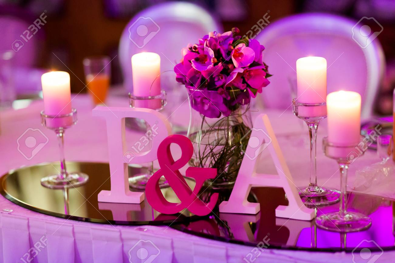 Reception Tables Beautifully Decorated Ready For Wedding - Bride ...
