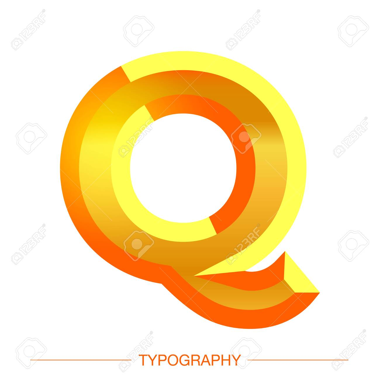 Vector 3D Sunshine letter bold style modern typography for decoration, logo, poster, t shirt, book, card, sale banner, printing on fabric, industrial - 152070644