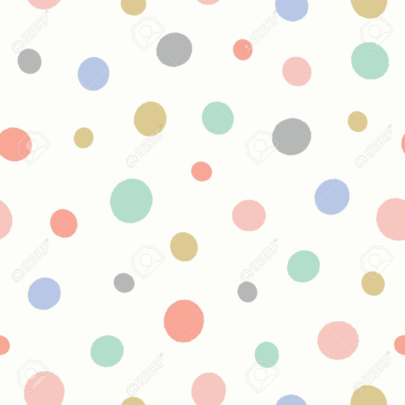 Dot pattern in pastel colours. Fun textured spotted vector seamless repeat background design. - 139161099