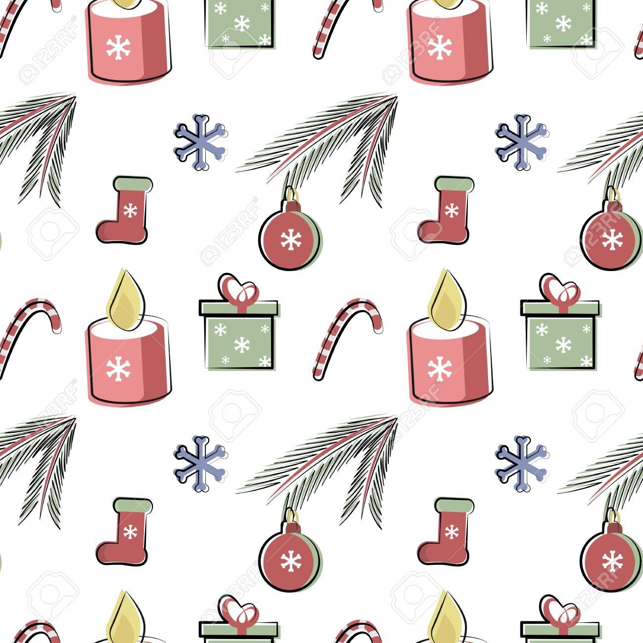 白の背景にベクトル簡単な冬パターン壁紙包装紙繊維に使用されます
