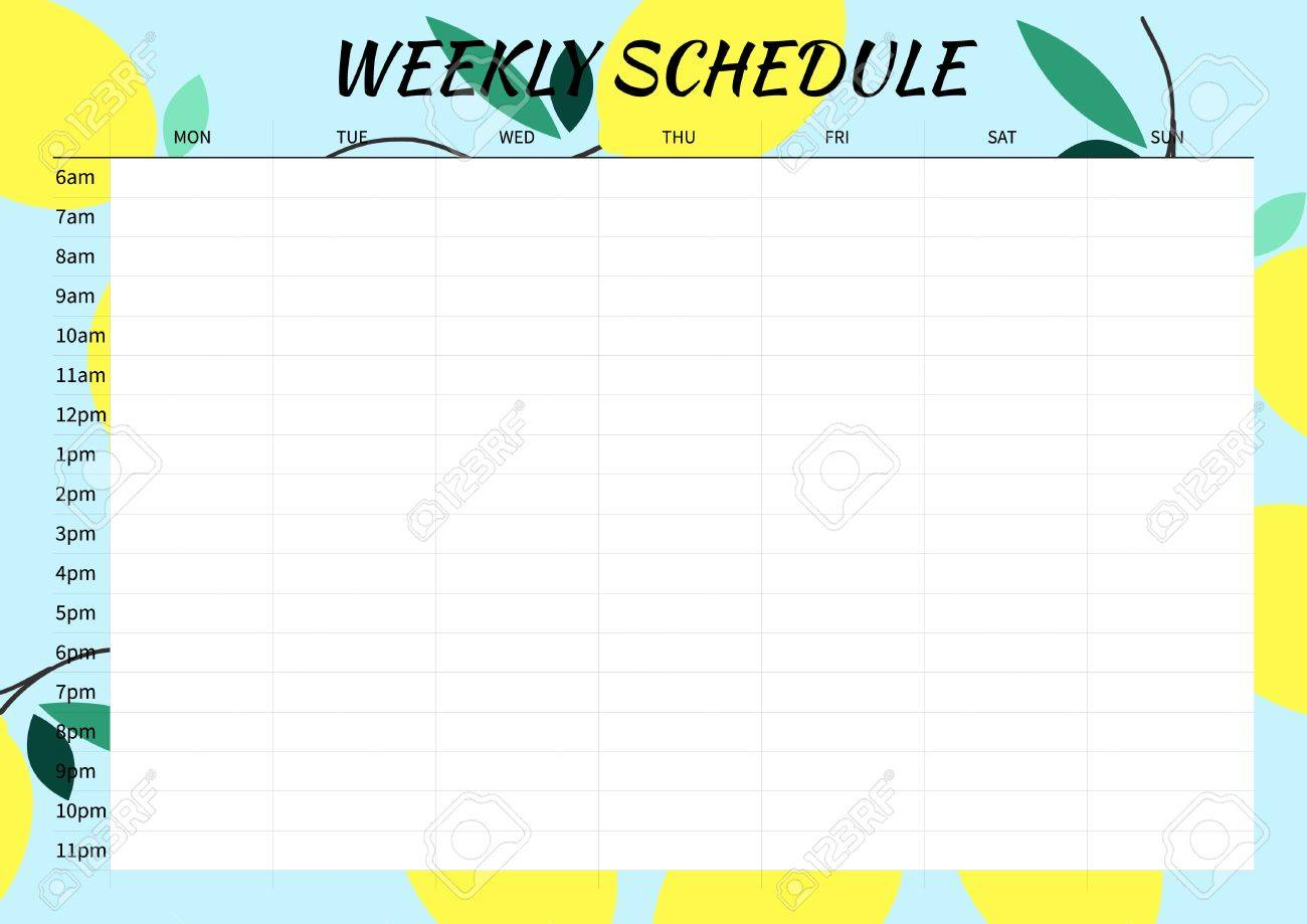 2016 Weekly Calendar Template from previews.123rf.com