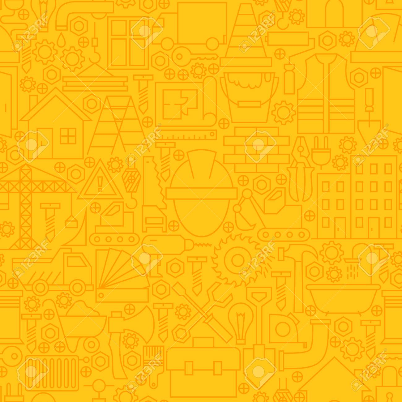 Thin Yellow Construction Line Seamless Pattern Website Design Royalty Free Cliparts Vectors And Stock Illustration Image 54764624