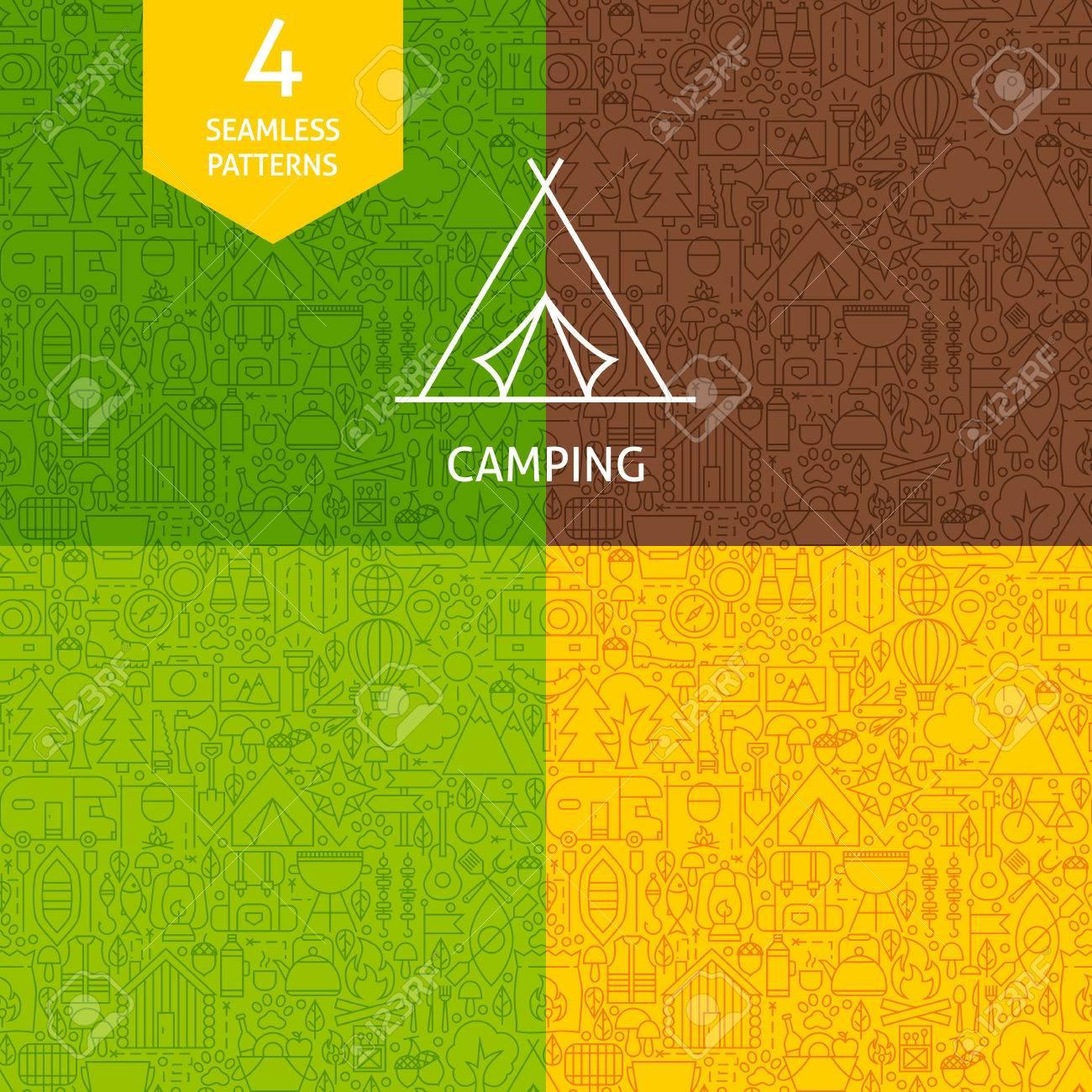 Four Vector Website Design Seamless Backgrounds Summer Camp
