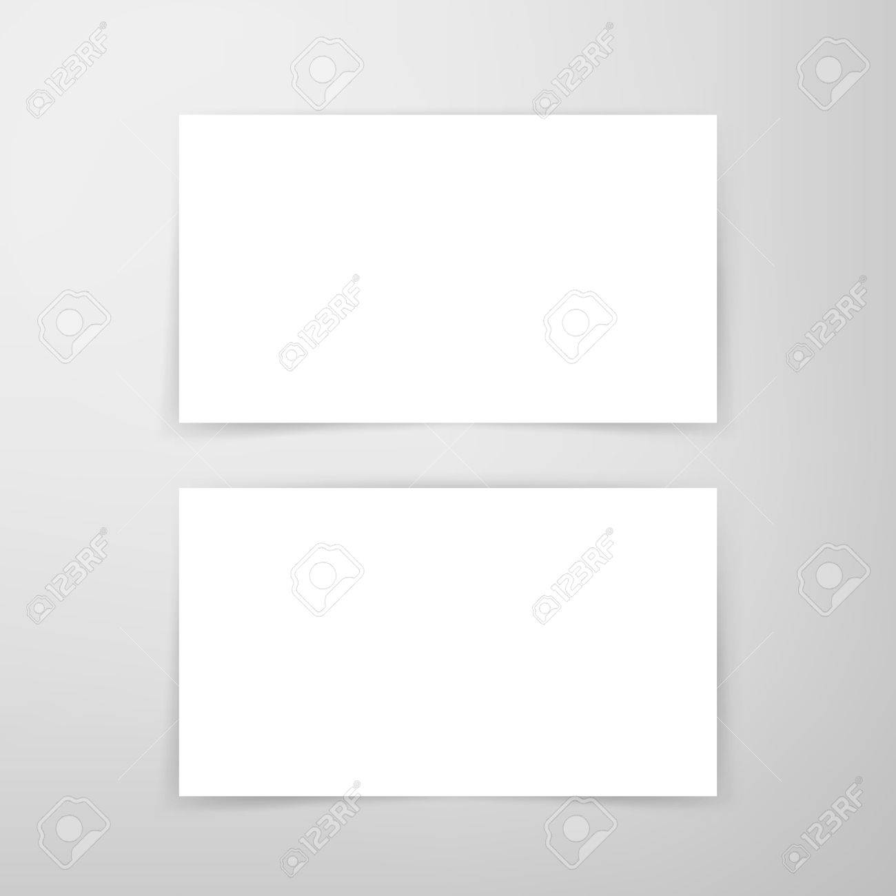 Blank business card mockup vector illustration of brand identity blank business card mockup vector illustration of brand identity design stock vector 61365378 reheart Choice Image