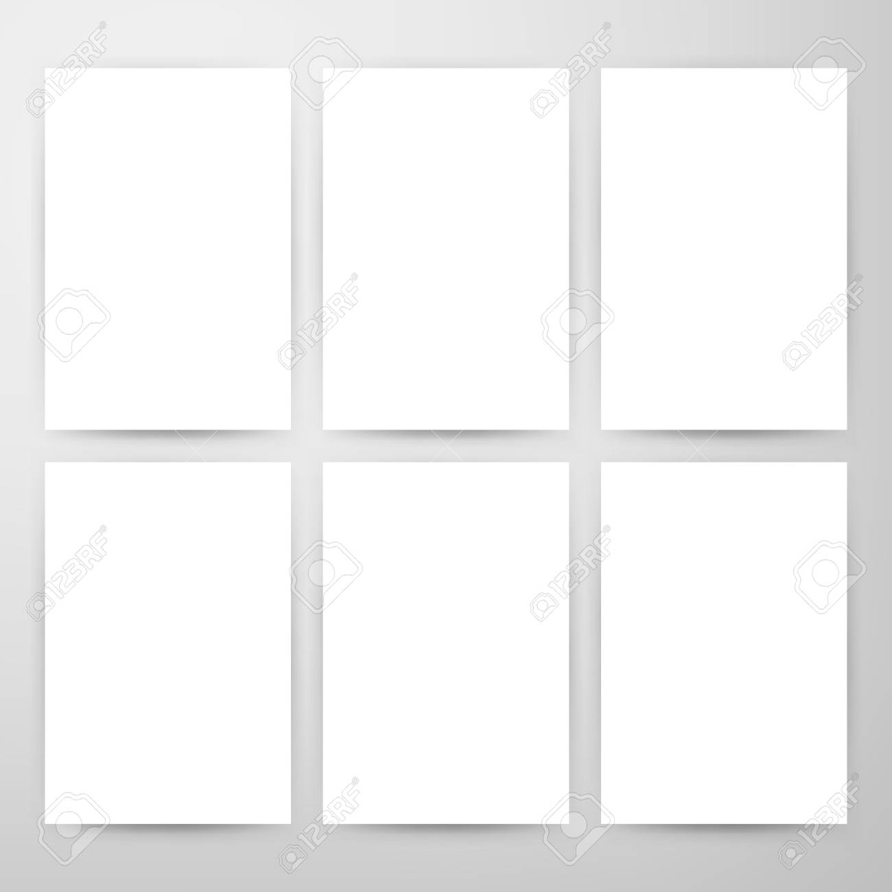 Blank Posters Mockup Template Vector Illustration Of Paper Sheets