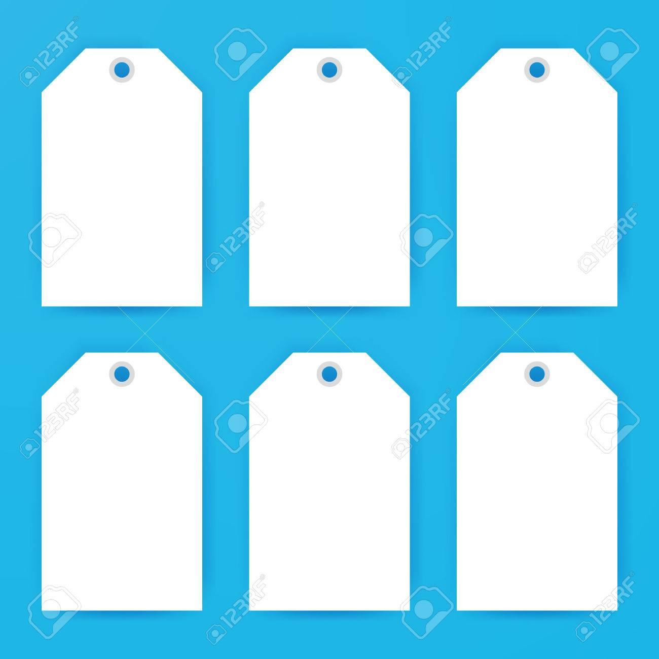 etiquetas de regalo maqueta vacía ilustración vectorial de diseño
