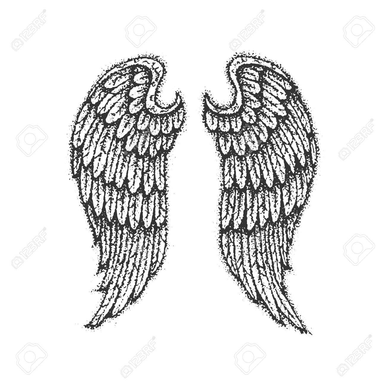 Dotwork angel wings royalty free cliparts vectors and stock dotwork angel wings stock vector 72967384 thecheapjerseys Images