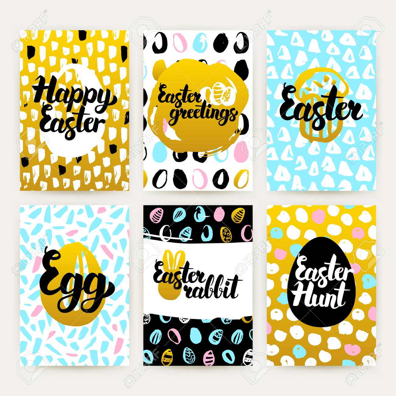 Simple easter greetings trendy brochures royalty free cliparts simple easter greetings trendy brochures stock vector 74408657 m4hsunfo