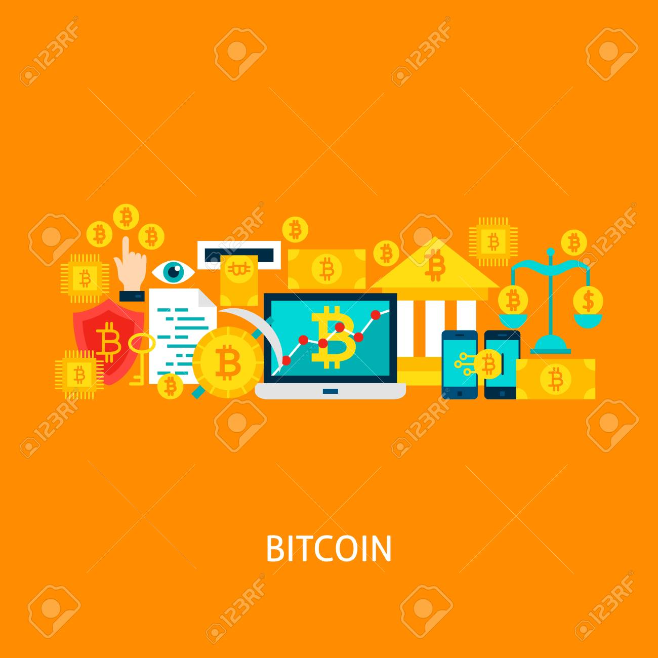 Bitcoin Vector Concept Stock Photo - 92171342