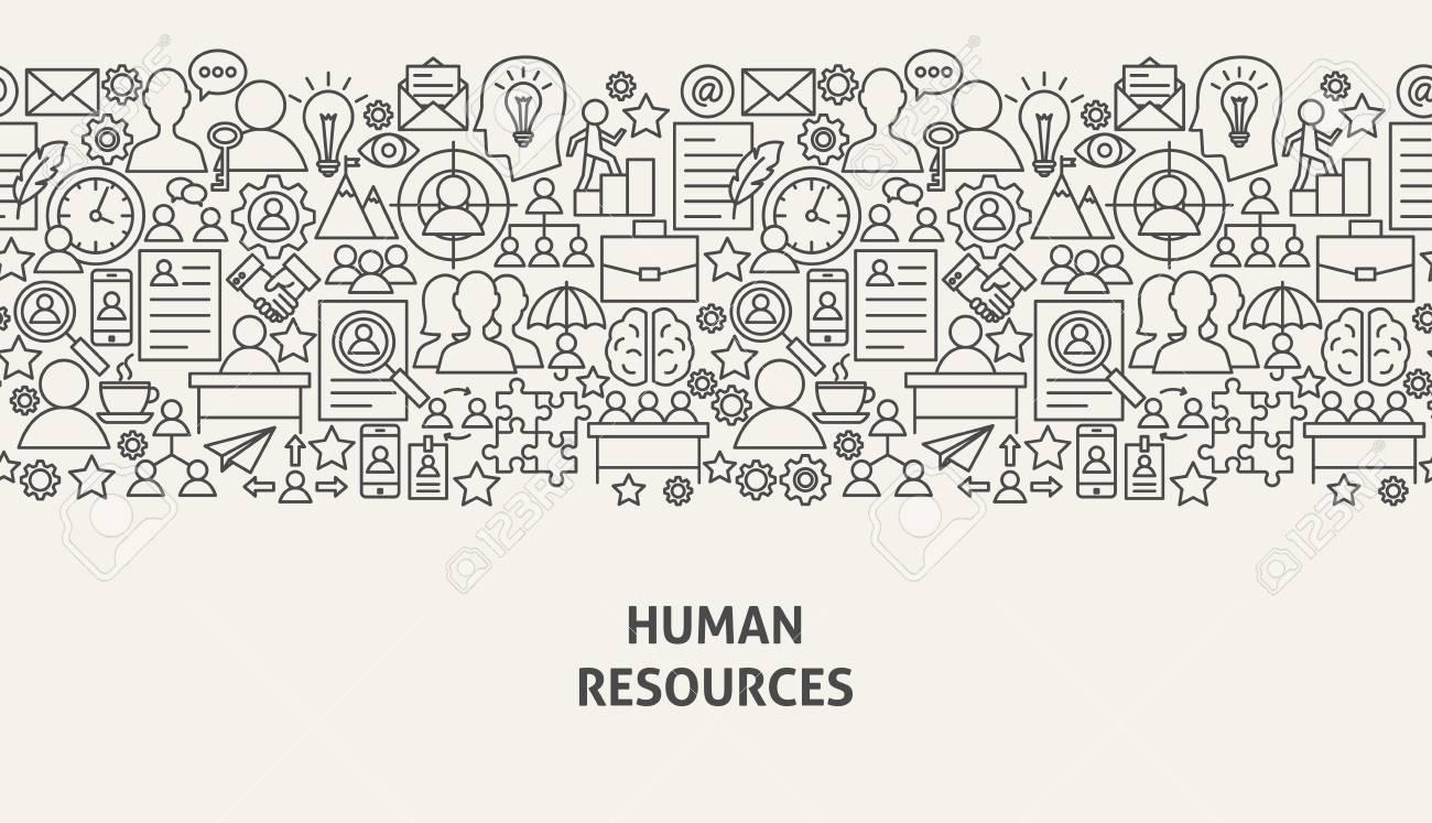 Human Resources Banner Concept Vector illustration. - 96087446