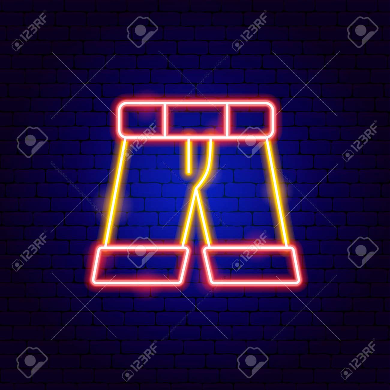 Shorts Neon Sign - 168963051